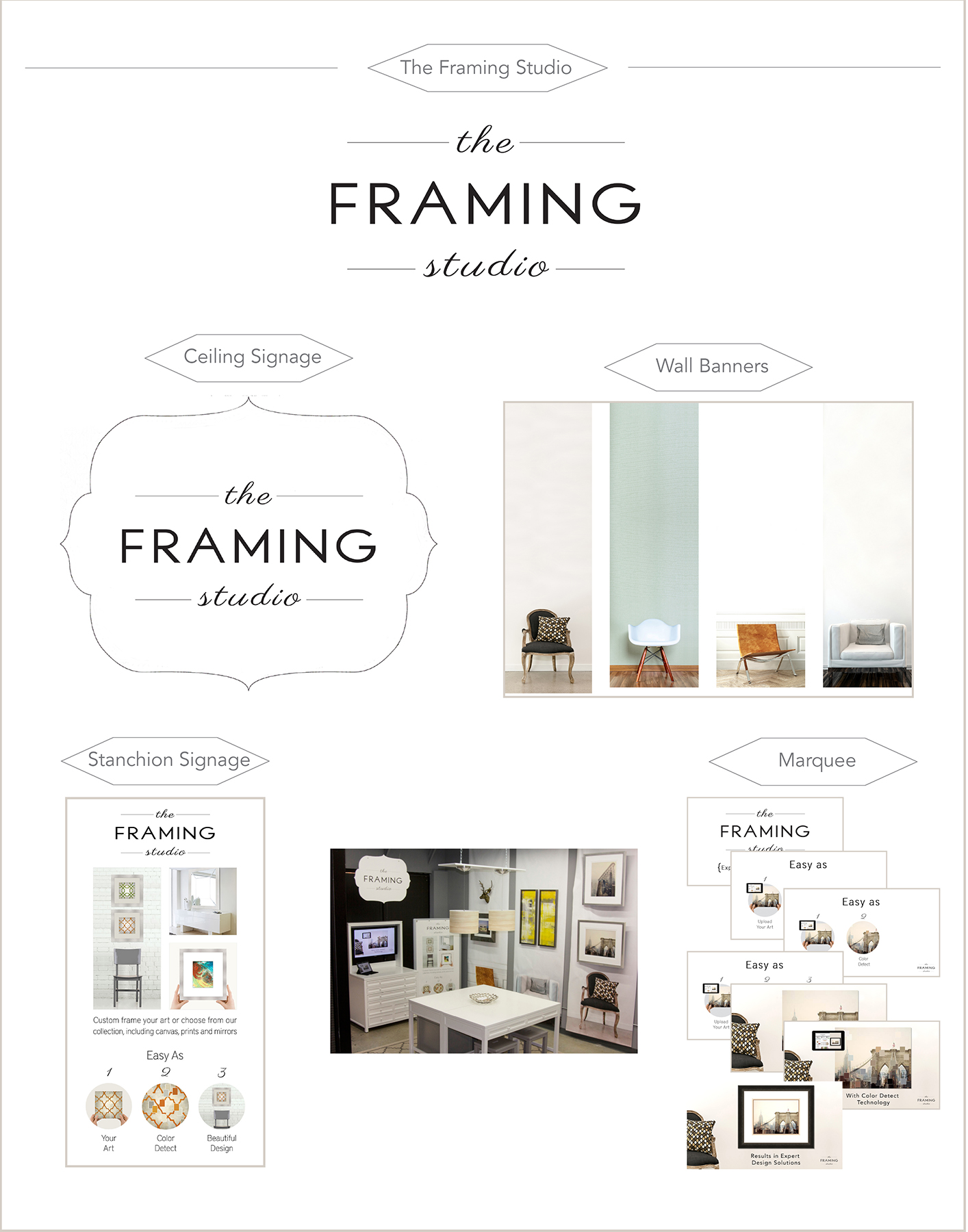 Logo, Signage & Marquee: The Framing Studio